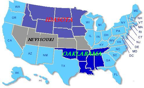 post-merger map of the US